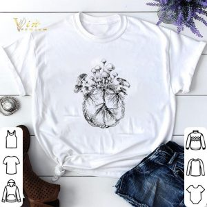 Hippie peace sign and mushrooms shirt sweater