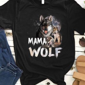 Hot Mama Wolf Family Wolves Moon Mom shirt