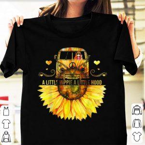 Hot Sunflower Peace Bus A Little Hippie A Little Hood shirt