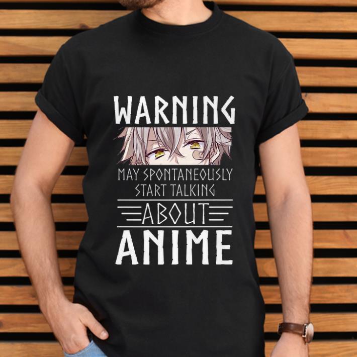 Anime Inspired WARNING May spontaneously start talking Anime black t-shirt