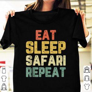Official Vintage Eat Sleep Safari Repeat shirt
