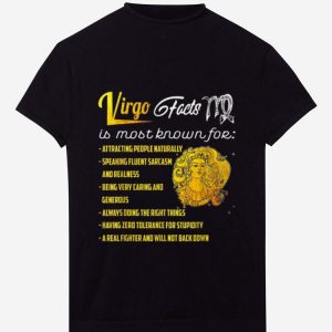Official Virgo Facts Is Most Know For Attracting People Naturally shirt