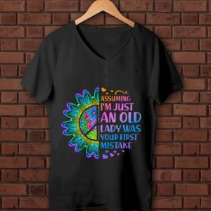 Original Hippie Flower Assuming Im Just An Old Lady Was First Mistake Young Girl shirt