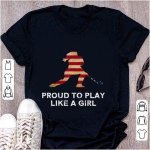 Original Proud To Play Like A Girl American Flag