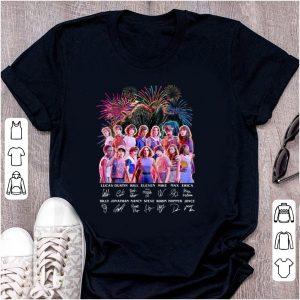 Original Thank You For The Memories Stranger Things Firework Signature shirt