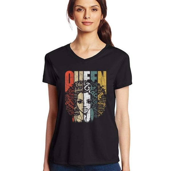 Original Vintage African American Queen Educated Strong shirt