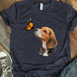 Premium Beagle With Butterfly shirt