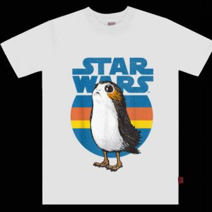 Pretty Star Wars Last Jedi Porg Retro shirt