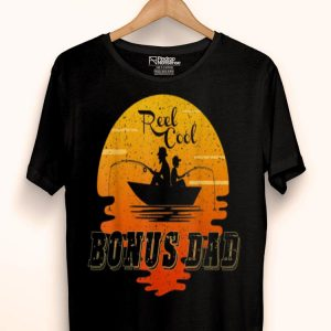 Reel Cool Bonus Dad Fishing Father And Son Sunset shirt