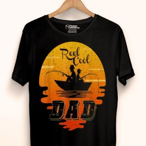 Reel Cool Dad Fishing Father And Son Sunset shirt