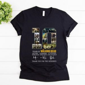 Top 10 Years Of The Walking Dead Thank You For The Memories Signature shirt