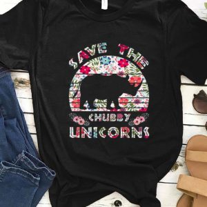 Top Save The Chubby Unicorns Floral shirt