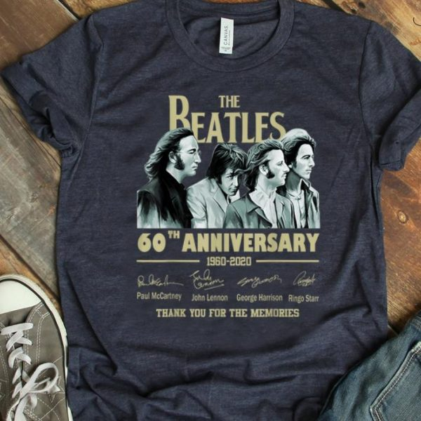 Top The Beatles 60th Anniversary Thank You For Memories Signature shirt