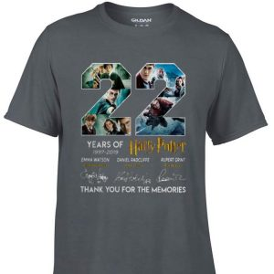 Awesome 22 Years Of Harry Potter 1997-2019 Thank You For The Memories shirt