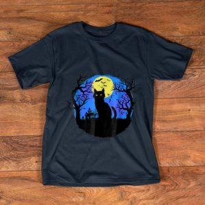 Awesome Black Cat at Night Halloween shirt