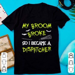 Awesome Dispatcher Halloween Costume Funny Easy Lazy Scary shirt