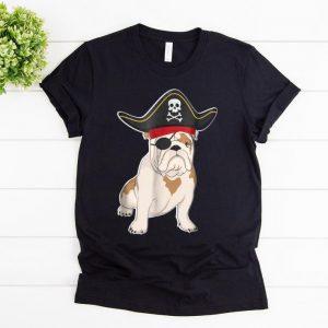 Awesome Funny Bulldog Pirate Costume Halloween Dog Lovers shirt
