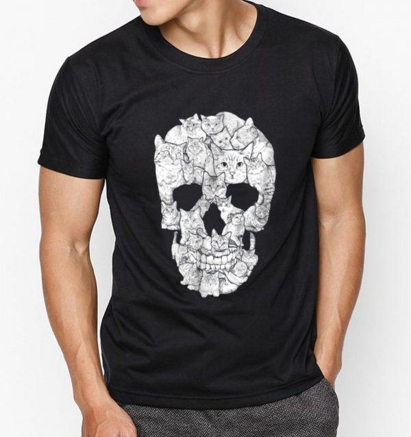 Beautiful Cat Skull Kitty Skeleton Halloween Costume Idea shirt