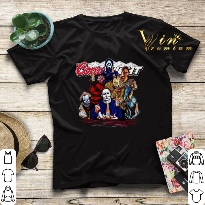 Horror movie characters Coors Light shirt 4 - Horror movie characters Coors Light shirt