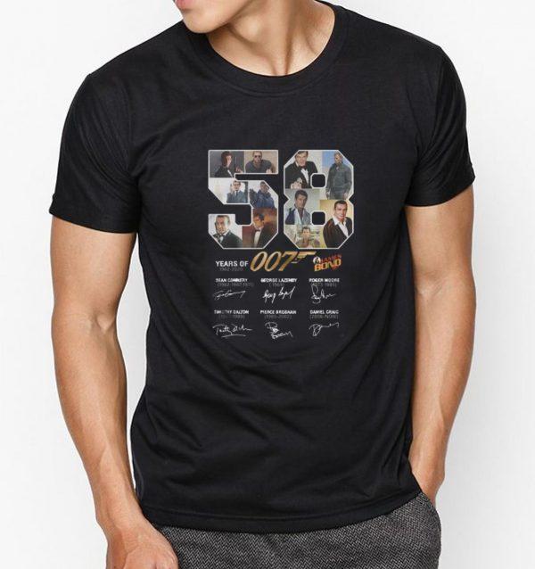 Hot 58 Years Of James Bond 007 1962-2020 Signature shirt