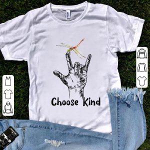 Hot Choose Kind Sign Language Dragonfly shirt