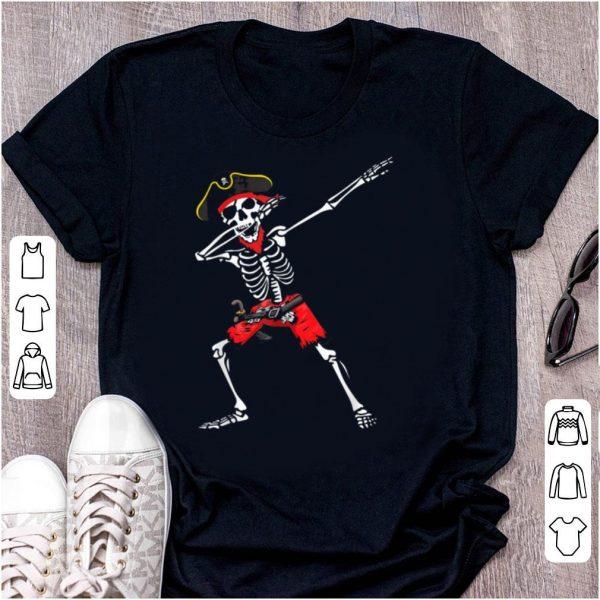 Hot Dabbing Skeleton Pirate Halloween Kids Boys Men shirt