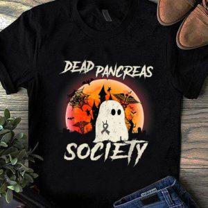 Hot Dead Pancreas Society Halloween Ghost Diabetes Awareness shirt