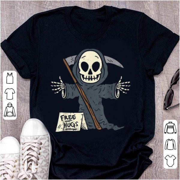 Hot Free Hugs Grim Reaper Scary The Death Halloween Costume shirt