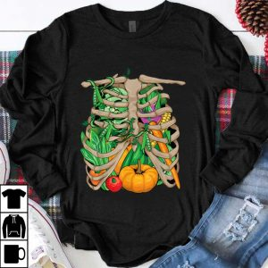Hot Vegetarian Vegetable Skeleton Halloween Costume shirt