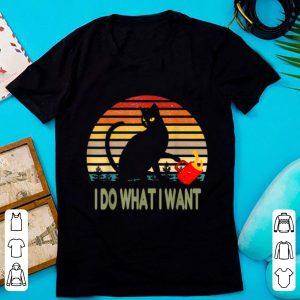 Hot Vintage I Do What I Want Cat shirt