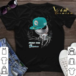 Jack Skellington fear the Miami Dolphins shirt sweater
