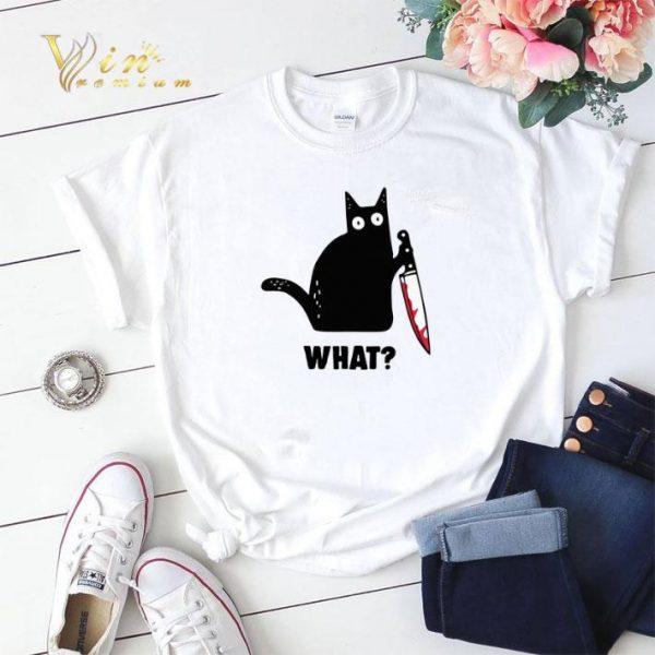 Michael Myers Black cat knife shirt