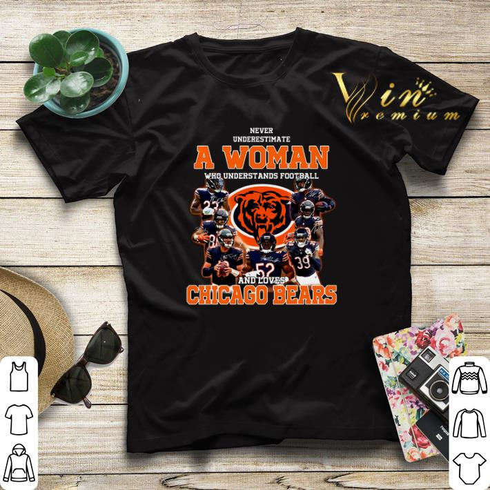 Never underestimate a woman who understands Chicago Bears shirt sweater 4 - Never underestimate a woman who understands Chicago Bears shirt sweater