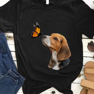 Nice Beagle With Butterfly shirt