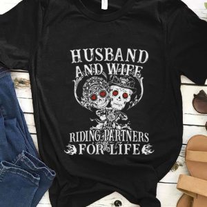 Nice Husband And Wife Riding Partners For Life shirt