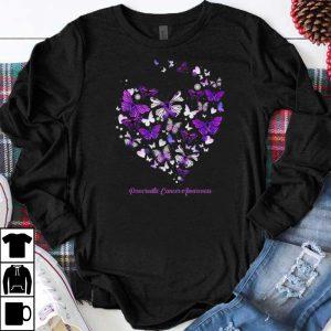Nice Pancreatic Cancer Awareness Butterfly Heart shirts