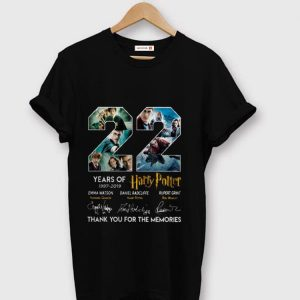 Official 22 Years Of Harry Potter 1997-2019 Thank You For The Memories shirt