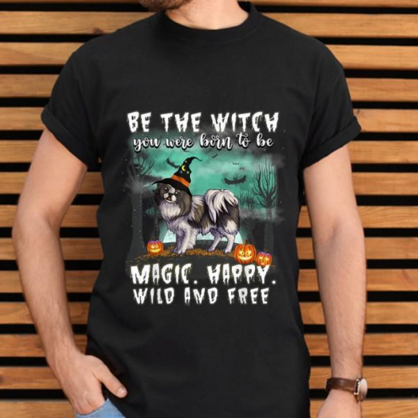 Official Be The Witch Japanese Chin Dog Halloween shirt