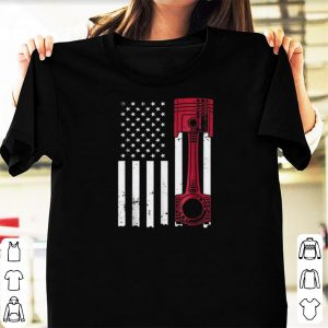 Official Car Enthusiast American Flag Piston shirts
