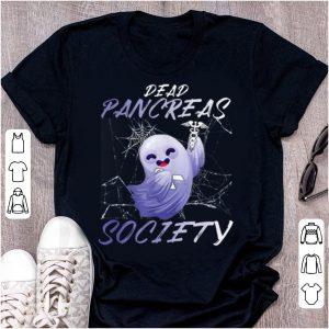 Official Dead Pancreas Society Diabetes Awareness Boo Ghost shirt