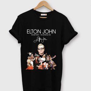 Official Elton John Rocket Man The Definitive Hits signature shirt