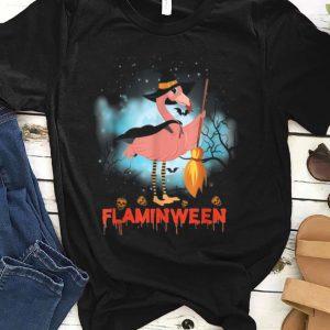 Official Halloween Custome Flamingo Flaminween Pumpkins Skull shirt