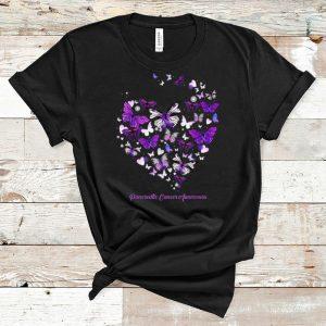 Official Pancreatic Cancer Awareness Butterfly Heart shirt