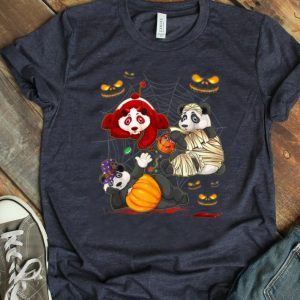 Official Panda Happy Halloween Cute Mummy Witch Pumpkin shirt