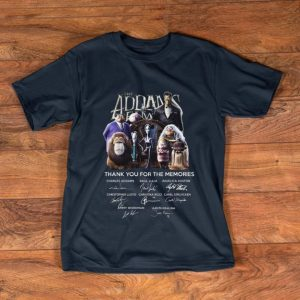 Official The Addams Family Thank You For The Memories Signature shirt
