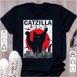 Official Vintage Catzilla Japanese Sunset Style Cat Kitten Lover shirt