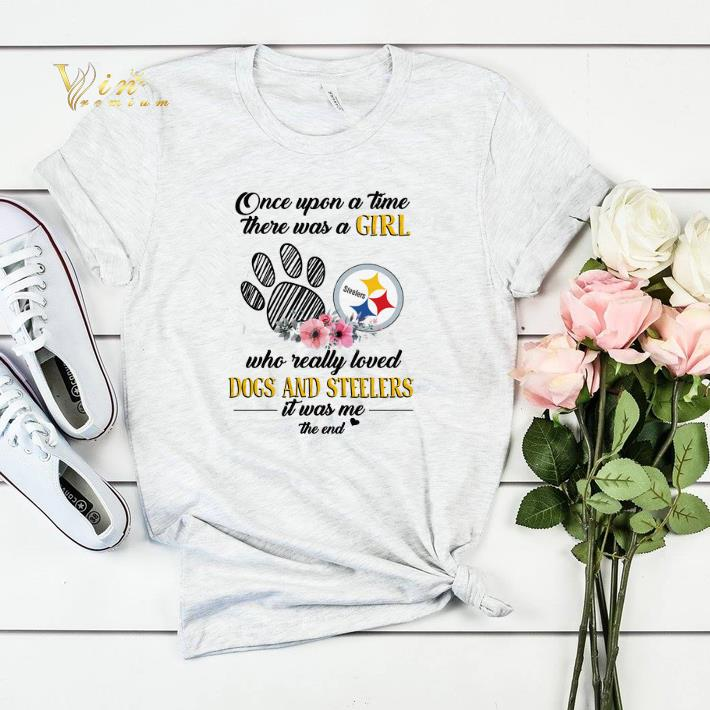 Once upon a time there was a girl who really loved dogs Steelers shirt sweater 4 - Once upon a time there was a girl who really loved dogs Steelers shirt sweater