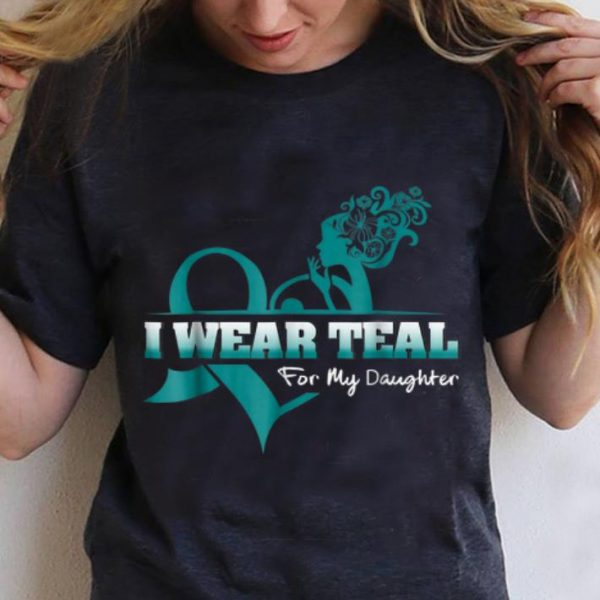 Original I Wear Teal For My Daugyhter PCOS Awareness shirt