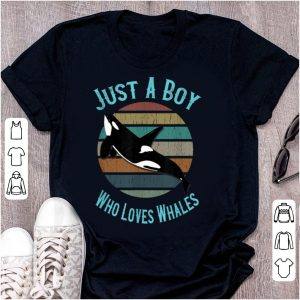 Original Just A Boy Who Loves Whales Orca Killer Whale shirt