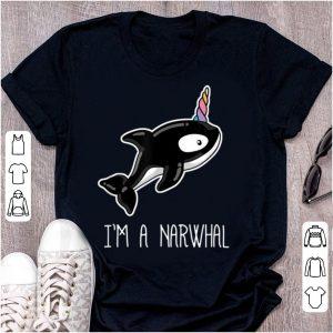 Original Kawaii Narwhal I'm A Narwhal Killer Whale Unicorn shirt